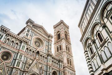 Le Battistero di San Giovanni et la cathédrale Santa Maria del Fiore à Florence