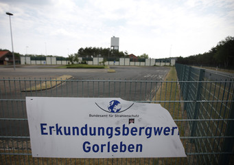 A general exterior view shows the pilot mine which is being tested for potential use as a permanent nuclear waste storage facility in Gorleben