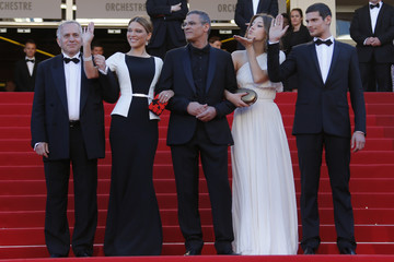 Director Abdellatif Kechiche and cast members arrive at the closing ceremony of the 66th Cannes Film Festival