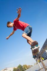 ride on skateboard