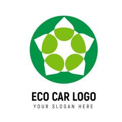 Eco-friendly transport logo template. Logotype