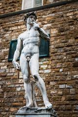 Statue de David devant le Palais Vecchio à Florence