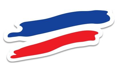 drapeau français traces pinceau