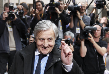 ECB President Jean-Claude Trichet  arrives at  an European Union leaders summit in Brussels