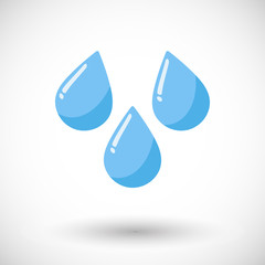 Vector flat water drops icon