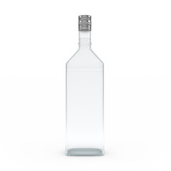 Vodka bottle isolated 3d rendering