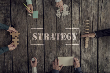 Business Strategy and teamwork concept