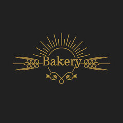 Bakery vector logo. Luxury badge template