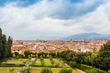 Vue sur Florence depuis les jardins du Palais Pitti