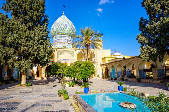 View over Ali Ibn Hamzeh Holly Shrine in Shiraz, Iran