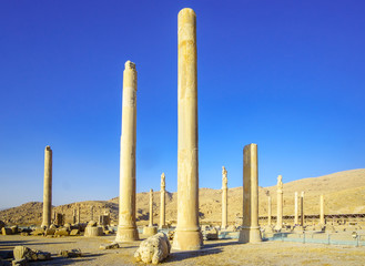 View on ruins of Persepolis by Shiraz in Iran