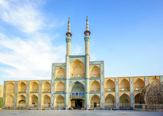 View on Amir Chakhmaq Mosque Complex in Yazd, Iran