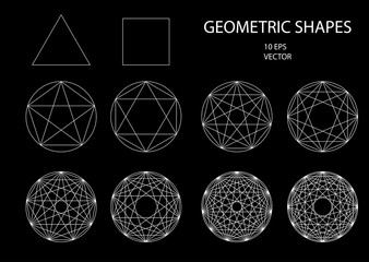 Sacred Geometry. Drawing.