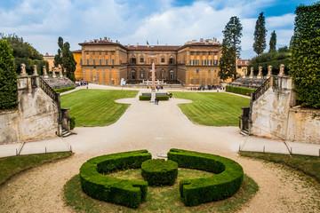 Le Palazzo Pitti à Florence depuis les jardins Fototapete