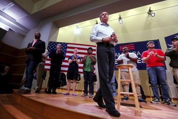 Kasich takes the stage to speak to voters at Clemson University in Clemson, South Carolina