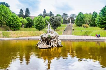 La fontaine de Neptune, dans les jardins du Palazzo Pitti à Florence