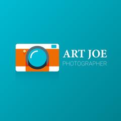 Camera logo. Vector illustration