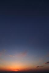 Cielo al tramonto