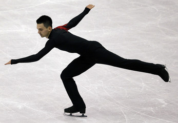 Rajec of Slovakia performs during the men's free skating preliminary round at the ISU World Figure Skating Championships in Nice