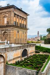 Le Palazzo Pitti à Florence depuis les jardins