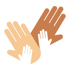 People hands showing greeting wrist direction symbol finger human thumb concept vector illustation