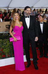 Actors Vergara and Manganiello arrive at the 22nd Screen Actors Guild Awards in Los Angeles