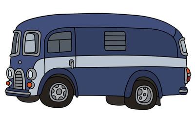 Retro blue service car