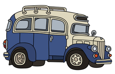 Vintage blue and cream bus