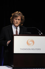 Thomson Reuters Chairman Thomson speaks at the company's annual general meeting for shareholders in Toronto