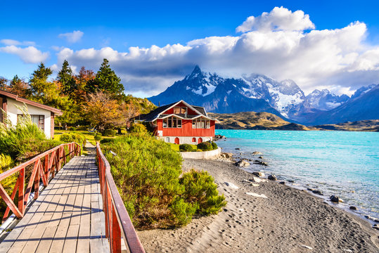 Torres del Paine, Patagonia, Chile - Pehoe Lake