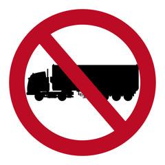 prohibited truck container transport design vector illustration