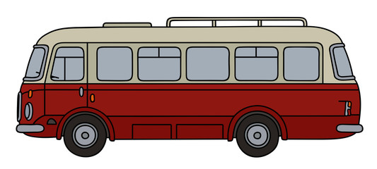 Old red and cream bus