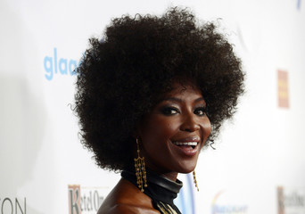 Supermodel Naomi Campbell attends the 25th annual GLAAD Media Awards in Beverly Hills