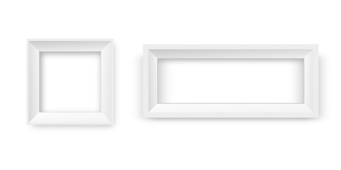 Vector realistic paper white frames on the transparent background for decoration and corporate identity design.