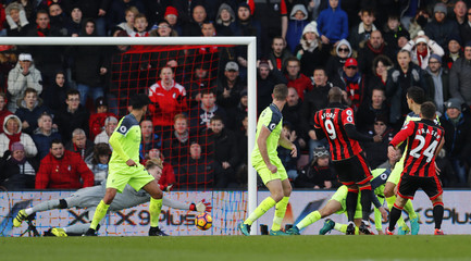 Bournemouth's Ryan Fraser scores their second goal