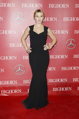 Actress Kate Winslet poses at the 27th Annual Palm Springs International Film Festival Awards Gala in Palm Springs