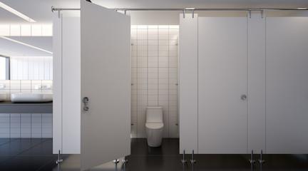 Public toilet , 3d rendering
