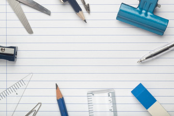 Stationery on writing paper