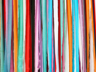 Colorful stripes made of paper