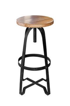 WWooden bar chair steel legs.