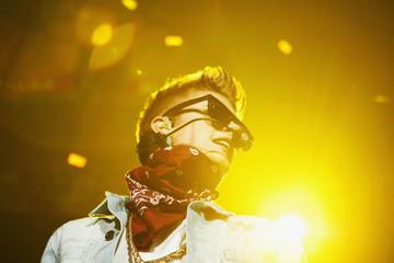 Bieber performs at the Jingle Ball 2012 in Atlanta