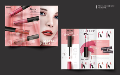 cosmetic brochure design