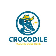 Unique Crocodile Logo Mascot Character
