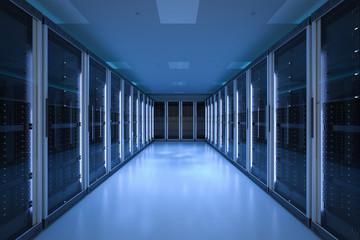 server room or server computers