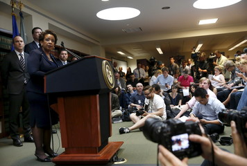U.S. Attorney General Loretta Lynch answers a question during a news conference at the U.S. Attorney's Office of the Eastern District of New York in the Brooklyn borough of New York