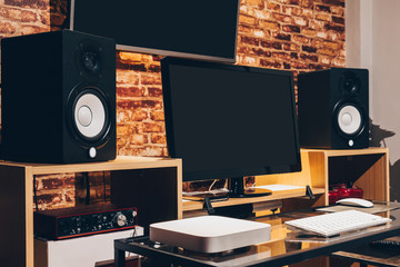 digital home entertainment & sound studio in modern lifestyle, audio & visual technology