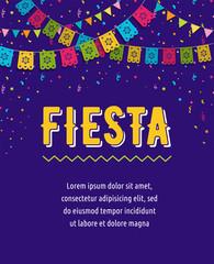 Mexican Fiesta background, banner