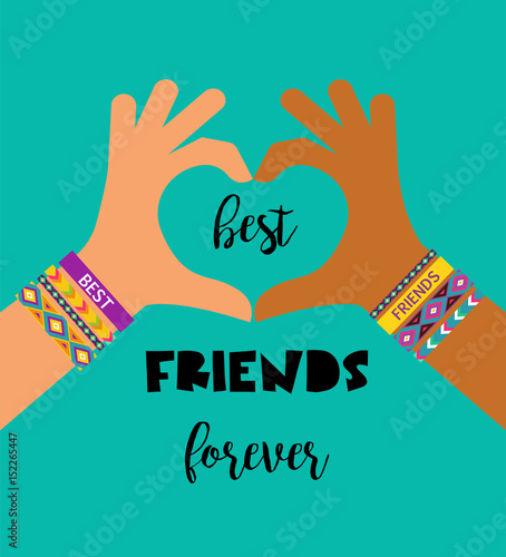 Best Friends Forever Happy Friendship Day Design Stock Image And
