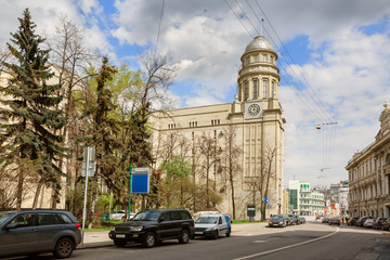 Headquarters of Ministry of Labour and Social Affairs in Ilyinka-street. Moscow, Russia.