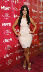Hewitt poses at the Variety's 3rd Annual Power of Women luncheon in Beverly Hills
